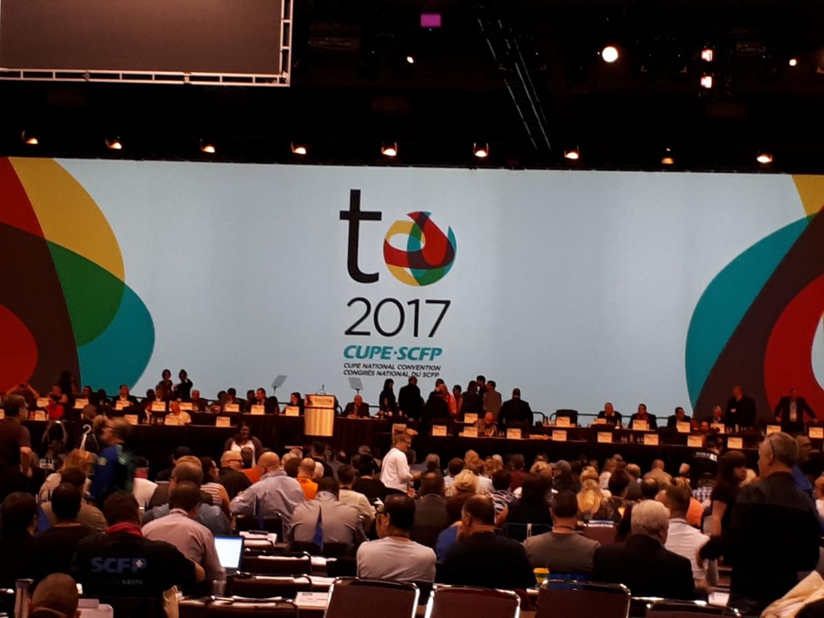 congrès national SCFP toronto 2017